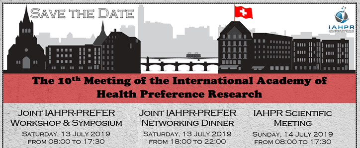 Save the date: Joint IAPHR-PREFER workshop and symposium